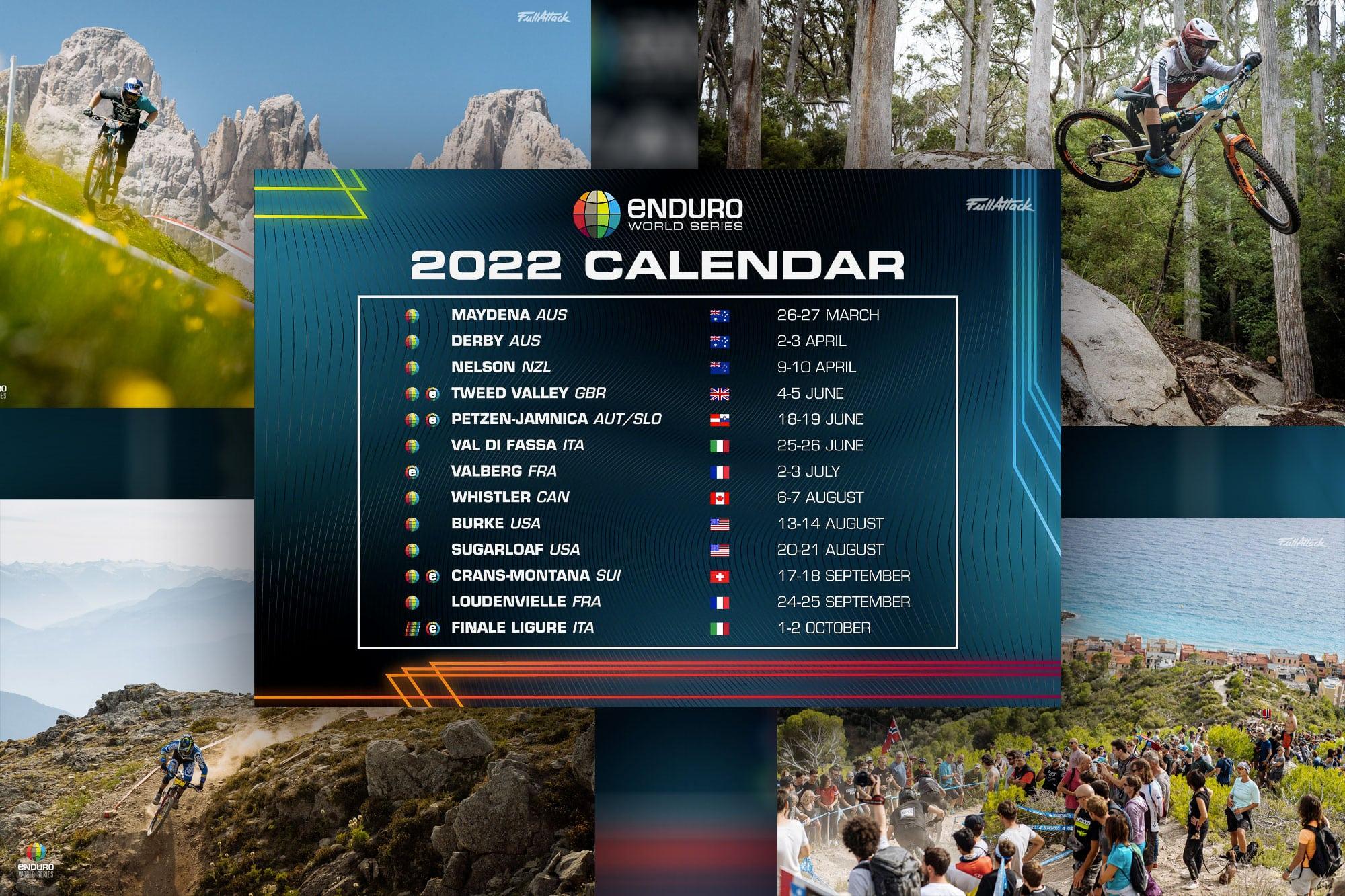 Calendrier Vtt 2022 11 EWS & 4 EWS E au calendrier Enduro World Series 2022 !